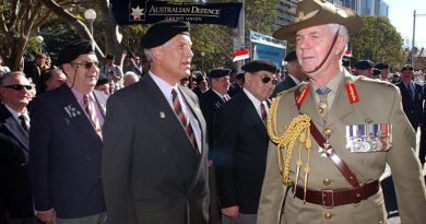 Then Governor General General Michael Jeffery at Reserve Farces Day march in Sydney. Photo by Leading Seaman Bill Louys.