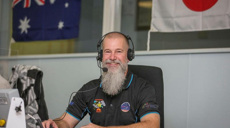 Air Force Test Ranges Directorate Trial Manager Andrew Searle was part of the Hayabusa2 mission at the Woomera Test Range, South Australia. Photo by Corporal Brenton Kwaterski.