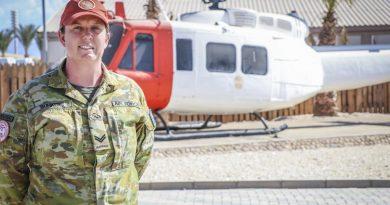 Royal Australian Air Force Corporal Vanessa Bunker in Egypt.
