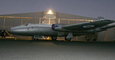 A Canberra Bomber at RAAF Base Amberley. Photo by Corporal Errol Jones.
