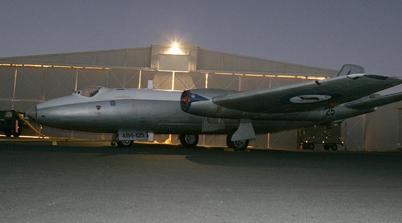 A Canberra Bomber at RAAF Base Amberley. Photo by Corporal Errol Jones.