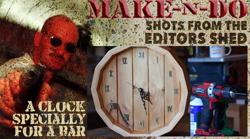 Make-n-Do style clock for a bar
