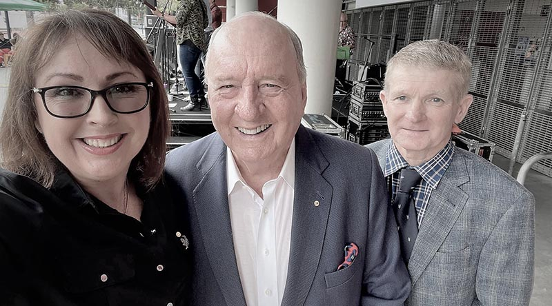 Kay Danes with fellow speaker Alan Jones and her husband, former SAS Warrant Officer Kerry Danes. Photo supplied.