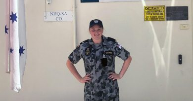 Seaman Shanen Pulkkinen is one of 14 gap gear-trained personnel re-joining Navy for three months to provide additional personnel over the stand-down period.