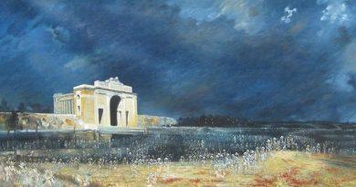 Menin Gate at midnight – oil on canvas by Will Longstaff (1927). AWM ART09807