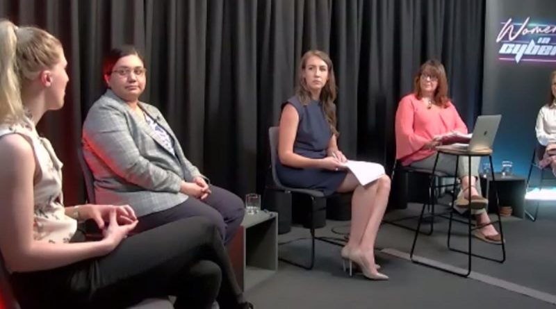 A panel discussion formed part of the Women in Cyber event held last month.