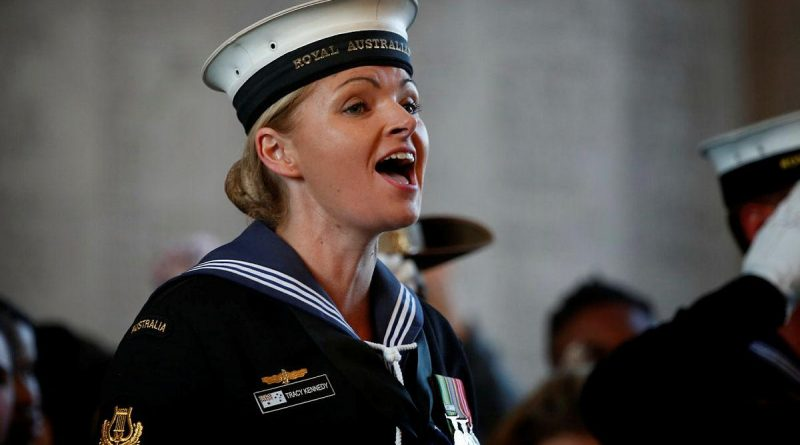 Leading Seaman Tracy Kennedy is proud to provide vocals on the new recording of Advance Australia Fair. Photo by Sergeant Christopher Dickson.