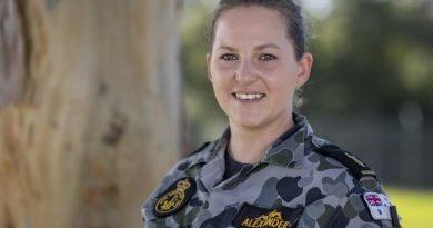 Able Seaman Brittany Alexander transferred from the Canadian Navy to the Royal Australian Navy in 2015. Photo by Chief Petty Officer Cameron Martin.