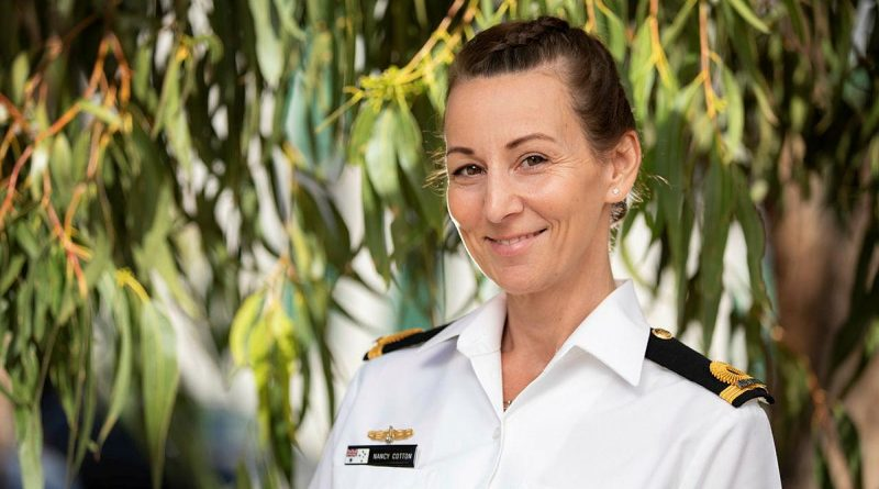 Sub-Lieutenant Nancy Cotton at Russell Offices in Canberra, ACT. Photo by Petty Officer Lee-Anne Cooper.
