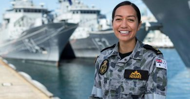 Leading Seaman Simone Henare at Fleet Base East, Sydney. Photo by Leading Seaman Jarrod Mulvihill.