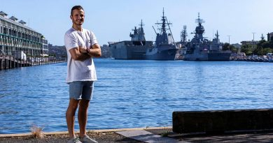 Able Seaman Cooper Blackwood is back on his feet after suffering a paralysing injury. Photo by Leading Seaman Nadav Hare.