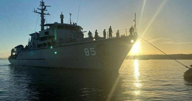CAPTION: HMAS Gascoyne in Jervis Bay to conduct mine-hunting exercises as part its Fleet Certification Period.