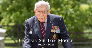 Captain Sir Tom Moore – 1920-2021 – RIP