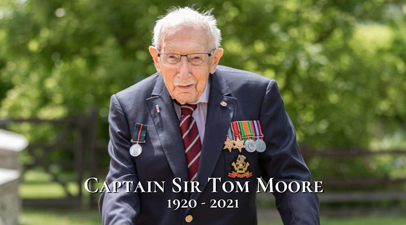 Captain Sir Tom Moore – 1920-2021 – RIP