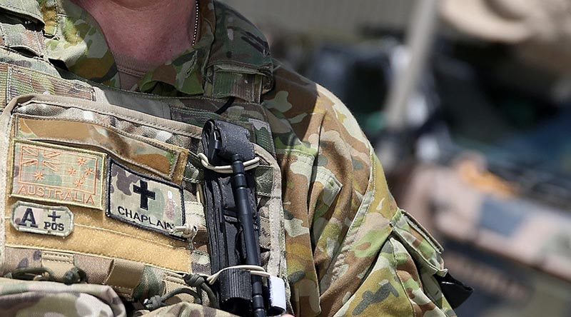 An Australian Army padre on operations in the Middle East.