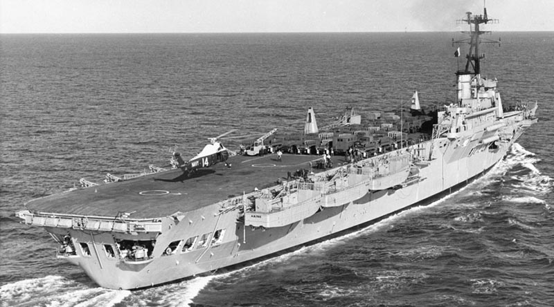 HMAS Sydney III in transit to Vietnam. Between 1965 and 1972, Sydney undertook 24 voyages to Vietnam, amounting to 25 operational visits to Vung Tau.