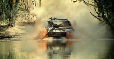 Leopard tank. Photo by Corporal Jason Logue.