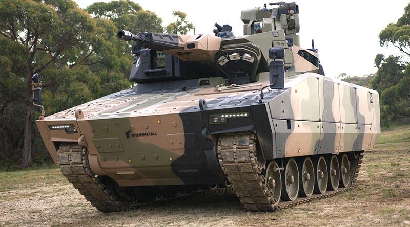 Lynx KF41 in Australia for risk mitigation testing. Photo supplied by Rheinmetall.