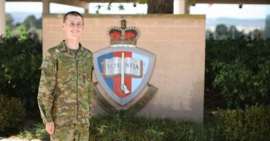 Officer Cadet Joseph Merchant has recently been appointed to the Army and is attending the Australian Defence Force Academy.