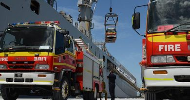 Five fire trucks sail for PNG