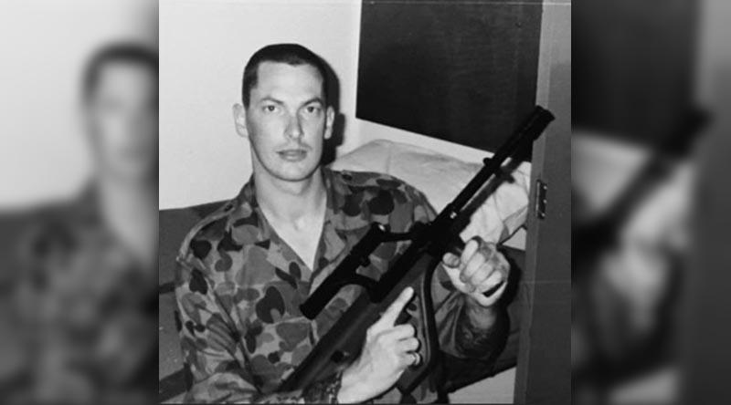 Recruit Cameron Douglas on his recruit course at Puckapunyal 1994.
