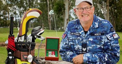 Senior Air Force Imagery Specialist Sergeant Pete Borys, from No. 464 Squadron RAAF Base Amberley Detachment, has clocked up 40 years' service in the ADF. Photo by Corporal Nicci Freeman.