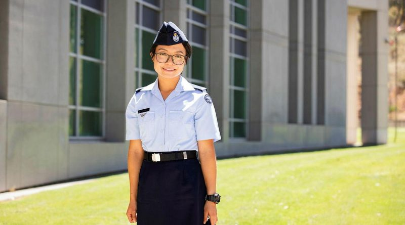 Aircraftwoman Ayumi Kono at Russell Offices, Canberra. Photo by Leading Aircraftman Adam Abela.