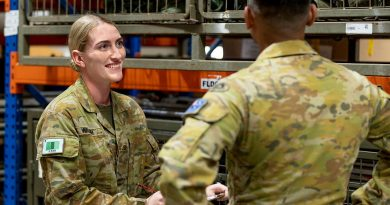 Private Ashleigh Walsh, from the 3rd Battalion, Royal Australian Regiment, works as a warehouse coordinator managing and maintaining equipment and weapons systems for the battalion. Photo by Corporal Brodie Cross.