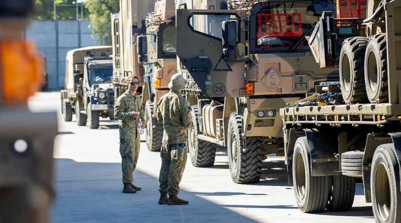 Australian Army soldiers prepare to deploy to Operation NSW Flood Assist 2021. Photo by Corporal Nicole Dorrett.