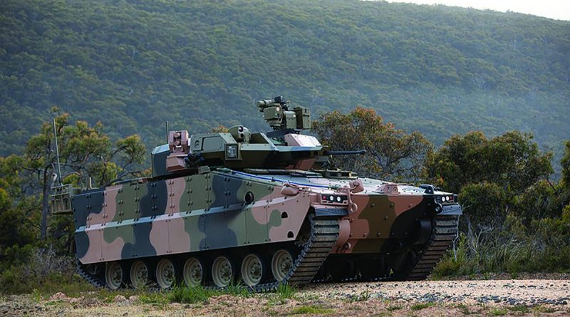 The Hanwha Redback Infantry Fighting Vehicle, above, and the Rheinmetall Lynx Infantry Fighting Vehicle, below, have been delivered to Defence to support test and evaluation activities conducted as part of the Land 400 Phase 3 Risk Mitigation Activity.