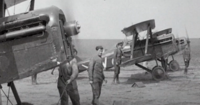 2 Sqn Royal Flying Core S.E.5A's at the Western Front WW1. Video screen grab.