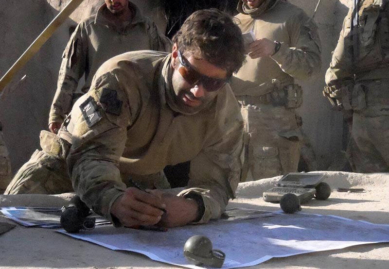 Captain Heston Russell in Afghanistan.