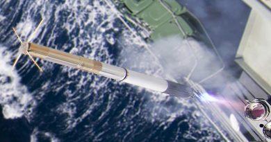 HMAS Darwin conducts a Nulka active missile decoy firing. Photo by Able Seaman Sarah Williams.