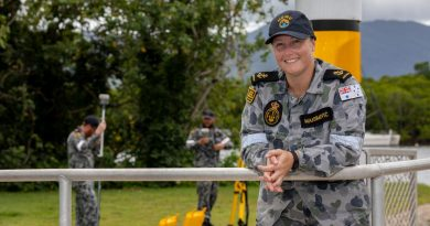 Leading Seaman Hydrographic Systems Operator Tanya Maksimovic with Deployable Geospatial Support Team 4 in Cairns. Story by Sub-Lieutenant Nancy Cotton. Photo by Leading Seaman Shane Cameron.