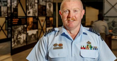 Officer Commanding No. 44 Wing Group Captain Robert Graham has been inducted into the Australian Air Force Cadets' Hall of Fame. Photo by Corporal Craig Barrett.
