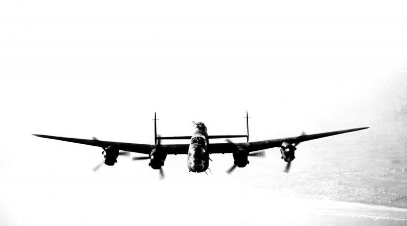 A Lancaster bomber of 463 or 467 Squadron RAAF over England in 1945. File photo.