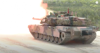 Exercise Howling Wolf - Abrams Tank live fire. Video screen grab.