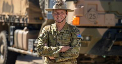 Warrant Officer Class One Allan Ryan from the 2/14 Light Horse Regiment at Gallipoli Barracks, Brisbane. Story by Captain Taylor Lynch. Photo by Corporal Nicole Dorrett.
