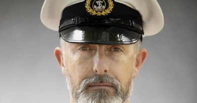 Warrant Officer Andrew O'Shea shows off his beard at Russell Offices, Canberra. Story by Petty Officer Lee-Anne Cooper. Photo by Petty Officer Lee-Anne Cooper.