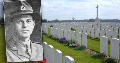 The last resting place of New Zealand infantry Captain Ernest Charles Parry – Dochy Farm New British Cemetery, Belgium.