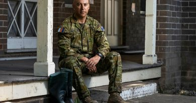 Private Daniel Saumaitoga, of the 4th/3rd Battalion, Royal New South Wales Regiment, deployed on Operation NSW Flood Assist. Story by Lieutenant Edward Pym. Photo by Corporal Sagi Biderman.