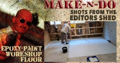 Epoxy-painting my workshop floor