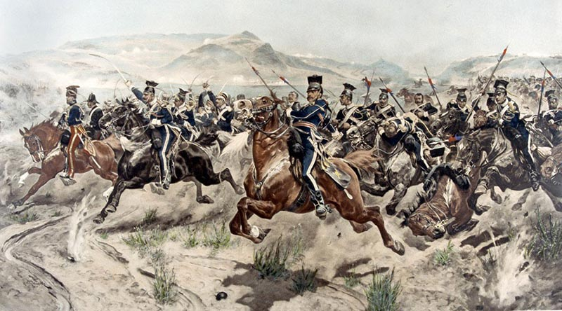 The Charge of the Light Brigade by Richard Caton Woodville Jr, oil on canvas, 1894.