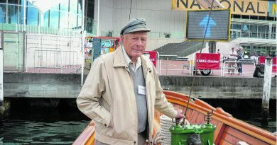 George King, who turned 100 on Anzac Day, visiting the National Maritime Museum in Sydney. Story by Private Jacob Joseph.
