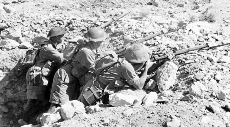 Australian 'Rats of Tobruk' dug in for the fight.
