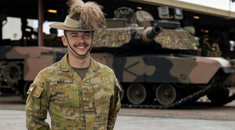 Trooper Matthew Riall at Gallipoli Barracks Brisbane. Story by Captain Jesse Robilliard. Photo by Corporal Nicole Dorrett.