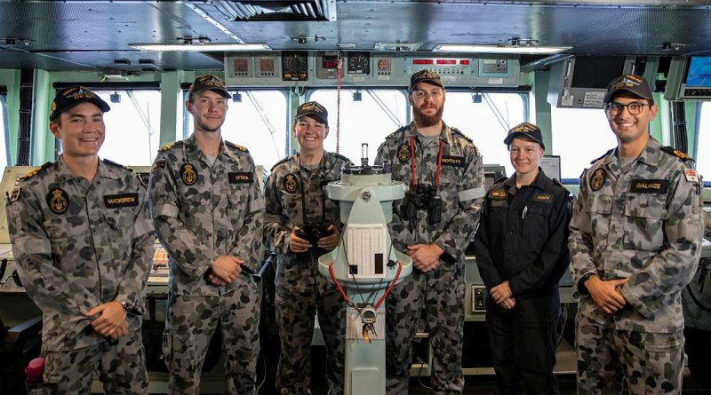 Officers of the watch in HMAS Anzac have completed their first multinational exercises. Story by Lieutenant Geoff Long.