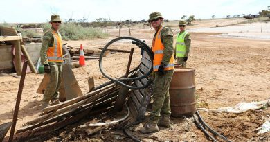 Soldiers clear debris from a Northampton farm following Tropical Cyclone Seroja. Story by Captain Leigh Smith.