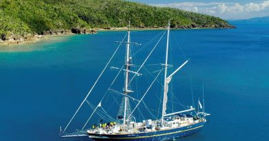 Navy's Sail Training Ship Young Endeavour in the Whitsundays, Queensland. Photo by Young Endeavour Youth Scheme.
