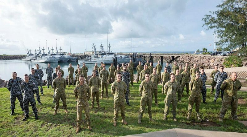 Navy and Army personnel from Transit Security Element 100 at HMAS Coonawarra in Darwin, Northern Territory. Story by Lieutenant Gordon Carr-Gregg. Photo: by Petty Officer Peter Thompson.